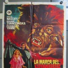 Cine: ZX63 LA MARCA DEL HOMBRE LOBO PAUL NASCHY TERROR POSTER ORIGINAL 70X100 ESPAÑOL. Lote 180449985