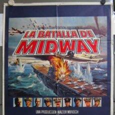 Cine: ZX58 LA BATALLA DE MIDWAY CHARLTON HESTON HENRY FONDA GLENN FORD POSTER ORIGINAL 70X100 DEL ESTRENO. Lote 180451427