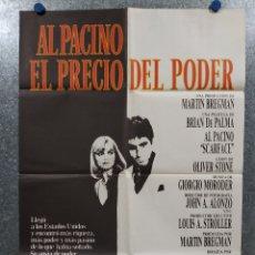 Cine: EL PRECIO DEL PODER. AL PACINO, STEVEN BAUER, MICHELLE PFEIFFER AÑO 1984. POSTER ORIGINAL. Lote 180456058