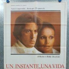 Cine: UN INSTANTE, UNA VIDA. AL PACINO, MARTHE KELLER, ANNY DUPEREY AÑO 1977. POSTER ORIGINAL. Lote 180456526