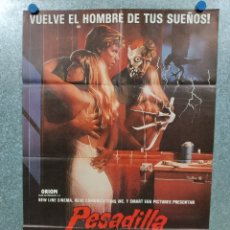 Cine: PESADILLA EN ELM STREET 2 LA VENGANZA DE FREDDY. ROBERT ENGLUND. POSTER ORIGINAL. Lote 180457303
