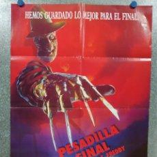 Cine: PESADILLA FINAL: LA MUERTE DE FREDDY (PESADILLA EN ELM STREET 6). AÑO 1991. POSTER ORIGINAL. Lote 180457755