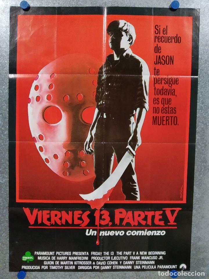 VIERNES 13 - PARTE V - UN NUEVO COMIENZO - DANNY STEINMANN. POSTER ORIGINAL (Cine - Posters y Carteles - Terror)