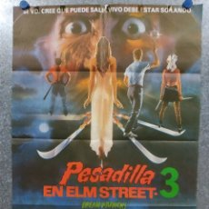 Cine: PESADILLA EN ELM STREET 3. HEATHER LANGENKAMP, PATRICIA ARQUETTE, R. ENGLUN AÑO 1978 POSTER ORIGINAL. Lote 180458745