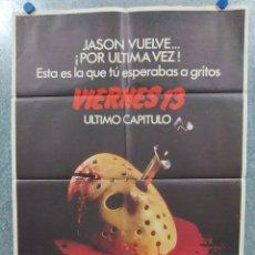 Cine: VIERNES 13. 4ª PARTE: ÚLTIMO CAPÍTULO. KIMBERLY BECK, COREY FELDMAN. AÑO 1984. POSTER ORIGINAL. Lote 180458937