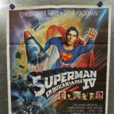 Cine: SUPERMAN IV. CHRISTOPHER REEVE. POSTER ORIGINAL.. Lote 180459572