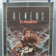 Cine: ALIENS: EL REGRESO. SIGOURNEY WEAVER, PAUL REISER. AÑO 1986 - POSTER ORIGINAL. Lote 180462486