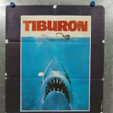 Cine: TIBURON. ROY SCHEIDER, ROBERT SHAW, RICHARD DREYFUSS. AÑO 1975. POSTER ORIGINAL ESTRENO. Lote 180463795