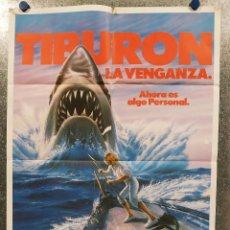 Cine: TIBURON LA VENGANZA 4 , LORRAINE GARY, LANCE GUEST. POSTER ORIGINAL. Lote 180464023