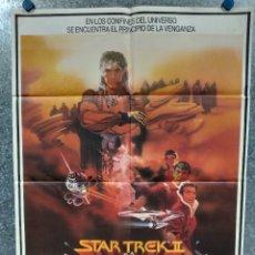 Cine: STAR TREK II. LA IRA DE KHAN. WILLIAM SHATNER, LEONARD NIMOY AÑO 1982. POSTER ORIGINAL. Lote 180464372