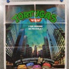 Cine: TORTUGAS NINJA. TUS HEROES DE PELICULA . POSTER ORIGINAL. Lote 180464855