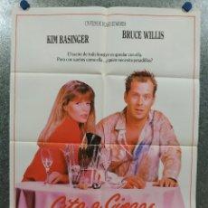 Cine: CITA A CIEGAS. KIM BASINGER, BRUCE WILLIS. AÑO 1987. POSTER ORIGINAL ESTRENO. Lote 180465651