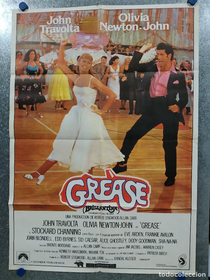 GREASE. JOHN TRAVOLTA, OLIVIA NEWTON JOHN. AÑO 1978. POSTER ORIGINAL ESTRENO (Cine - Posters y Carteles - Musicales)