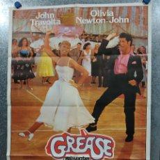 Cine: GREASE. JOHN TRAVOLTA, OLIVIA NEWTON JOHN. AÑO 1978. POSTER ORIGINAL ESTRENO. Lote 180465821