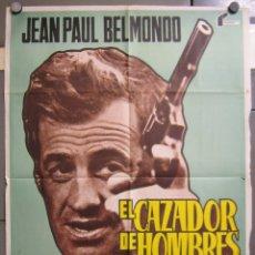 Cine: ZY13 EL CAZADOR DE HOMBRES JEAN PAUL BELMONDO POSTER ORIGINAL 70X100 DEL ESTRENO. Lote 180481620