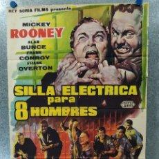 Cine: SILLA ELÉCTRICA PARA OCHO 8 HOMBRES. MICKEY ROONEY, FRANK OVERTON. AÑO 1962. POSTER ORIGINAL. Lote 180889512