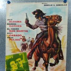 Cine: EL JINETE NEGRO. JULIO ALDAMA, MAURICIO GARCES . AÑO 1963 POSTER ORIGINAL. Lote 180891206