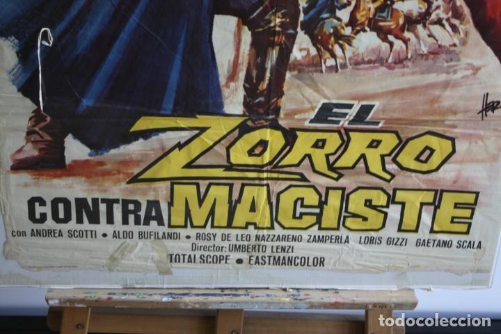 Cine: Cartel de cine original El zorro contra maciste - Foto 3 - 180924358
