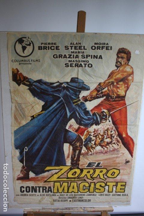 CARTEL DE CINE ORIGINAL EL ZORRO CONTRA MACISTE (Cine - Posters y Carteles - Clasico Español)