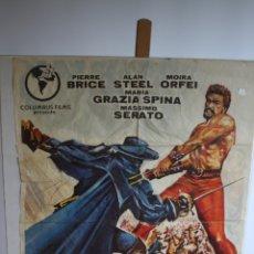 Cine: CARTEL DE CINE ORIGINAL EL ZORRO CONTRA MACISTE. Lote 180924358