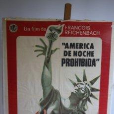 Cine: CARTEL DE CINE ORIGINAL. AMÉRICA DE NOCHE, PROHIBIDA. Lote 180925698