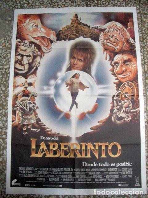 PÓSTER ORIGINAL DE CINE 70X100CM LABERINTO CON DAVID BOWIE (Cine - Posters y Carteles - Musicales)