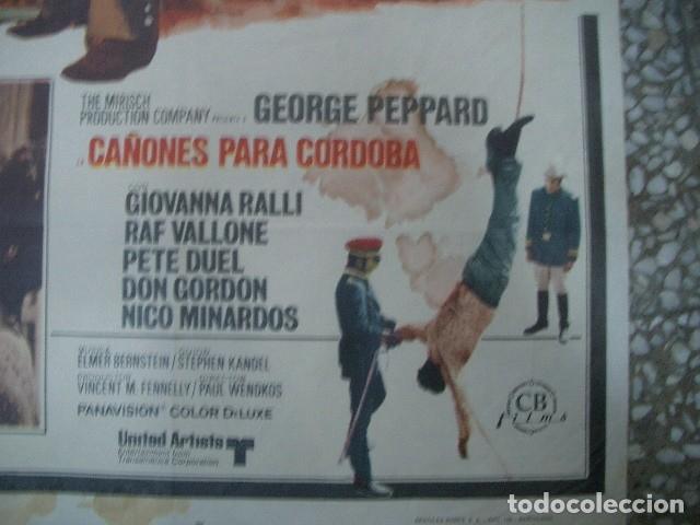 Cine: PÓSTER ORIGINAL DE 100X70CM CAÑONES PARA CóRDOBA GEORGE PEPPARD GIOVANNA - Foto 2 - 181179647