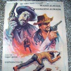 Cine: PÓSTER ORIGINAL DE 100X70CM DEMASIADO ORO PARA DOS PISTOLAS MARIO FERNANDO ALMADA. Lote 181179793