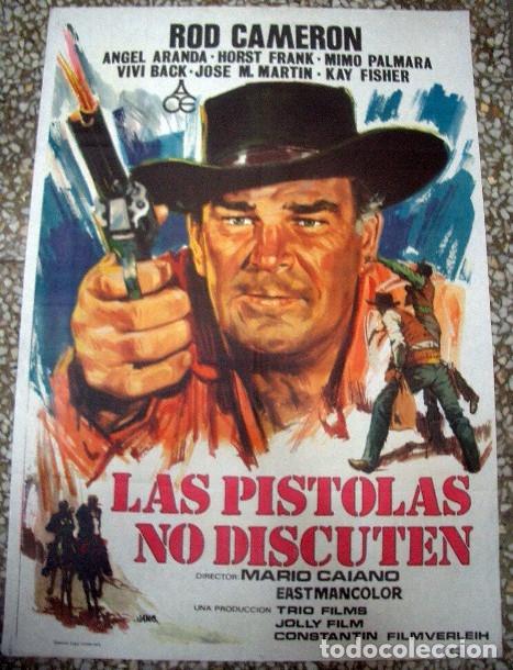 PÓSTER ORIGINAL DE 100X70CM LAS PISTOLAS NO DISCUTEN (Cine - Posters y Carteles - Westerns)