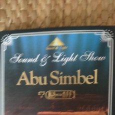 Cine: SOUND AND LIGHT SHOW, ABU SIMBEL. Lote 181232702