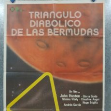 Cine: EL TRIÁNGULO DIABÓLICO DE LAS BERMUDAS. JOHN HUSTON, GLORIA GUIDA, MARINA . POSTER ORIGINAL. Lote 181339513