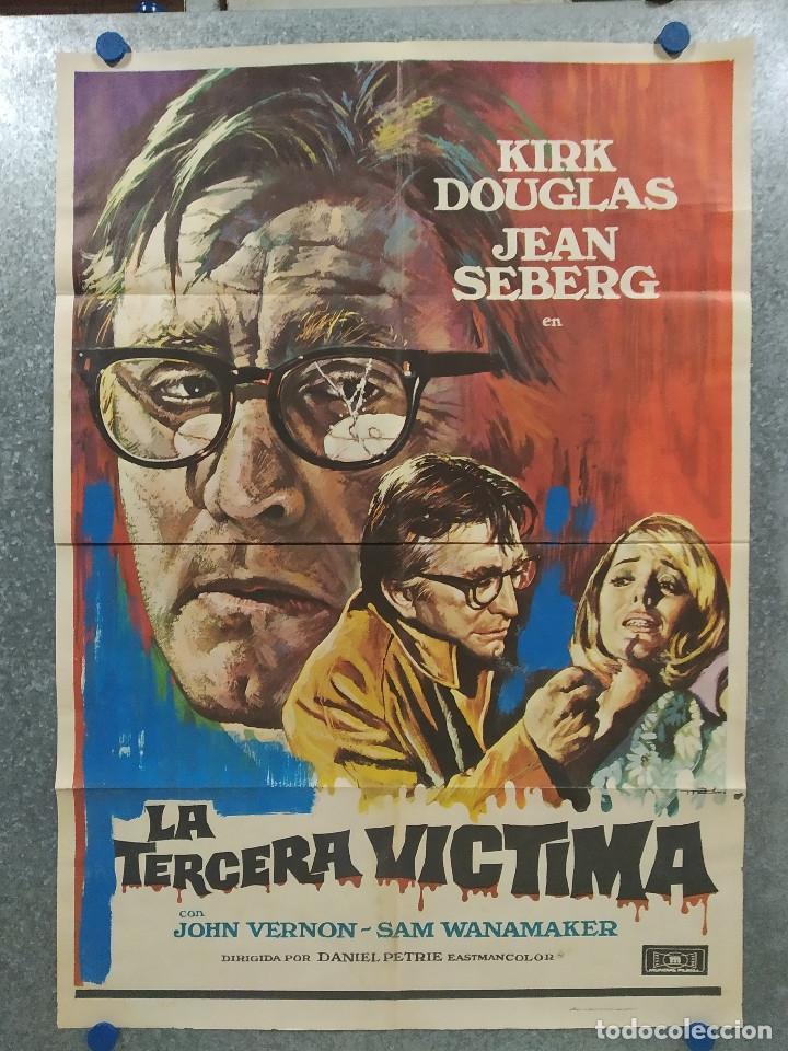LA TERCERA VÍCTIMA. KIRK DOUGLAS, JEAN SEBERG. AÑO 1974. POSTER ORIGINAL (Cine - Posters y Carteles - Suspense)