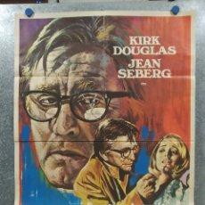 Cine: LA TERCERA VÍCTIMA. KIRK DOUGLAS, JEAN SEBERG. AÑO 1974. POSTER ORIGINAL. Lote 181340978