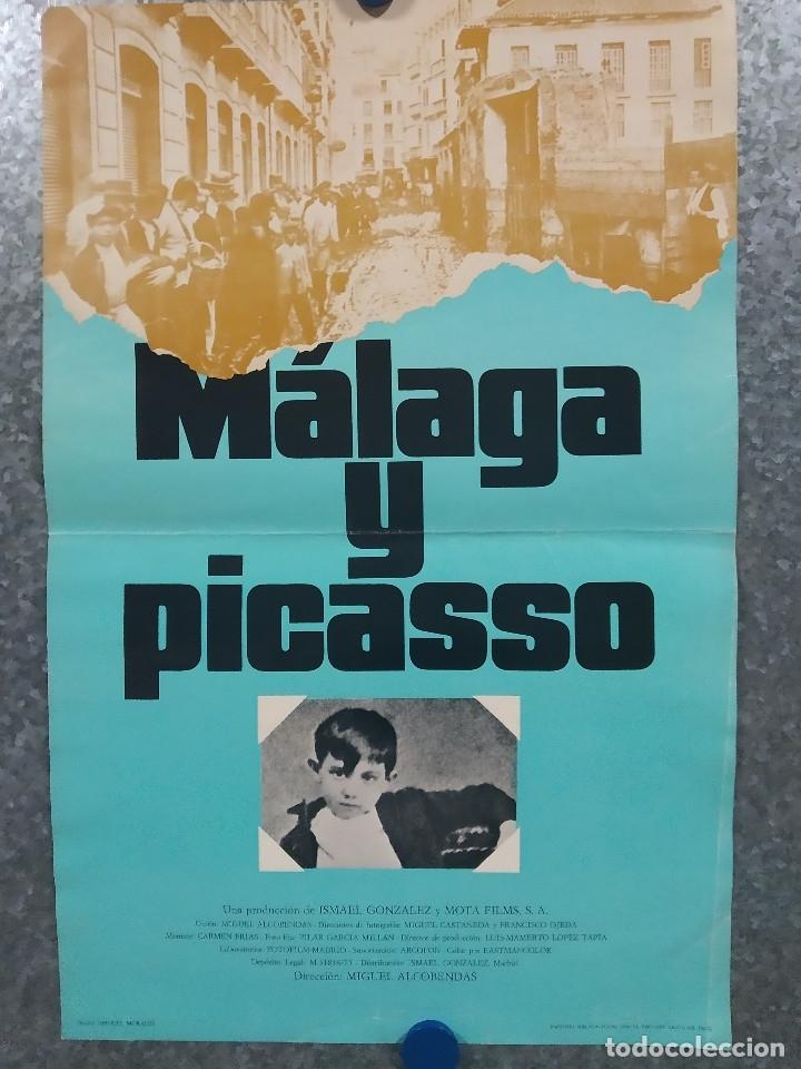 MALAGA Y PICASSO. DIRECCION MIGUEL ALCOBENDAS. AÑO 1976. POSTER ORIGINAL (Cine - Posters y Carteles - Documentales)