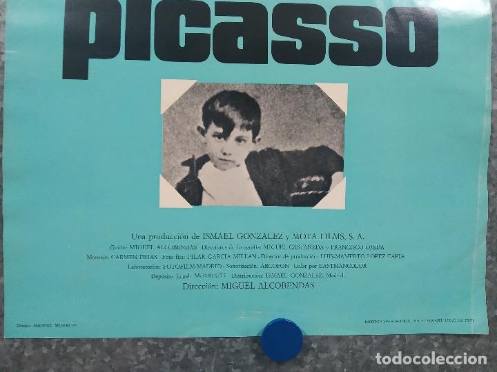 Cine: MALAGA Y PICASSO. DIRECCION MIGUEL ALCOBENDAS. AÑO 1976. POSTER ORIGINAL - Foto 3 - 181353945
