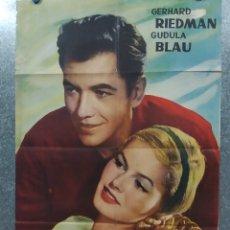 Cine: MI VIDA EN TUS MANOS GERHARD RIEDMAN, GUDULA BLAU. AÑO 1962. POSTER ORIGINAL. Lote 181354180