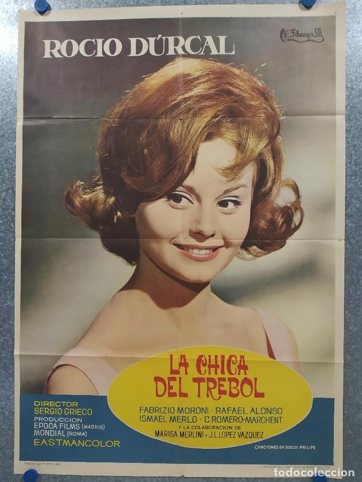 LA CHICA DEL TREBOL. ROCIO DURCAL. AÑO 1963. POSTER ORIGINAL (Cine - Posters y Carteles - Clasico Español)