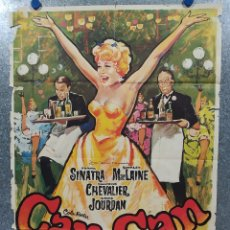 Cine: CAN-CAN. FRANK SINATRA, SHIRLEY MACLAINE, MAURICE CHEVALIER AÑO 1971. POSTER ORIGINAL. Lote 181356086