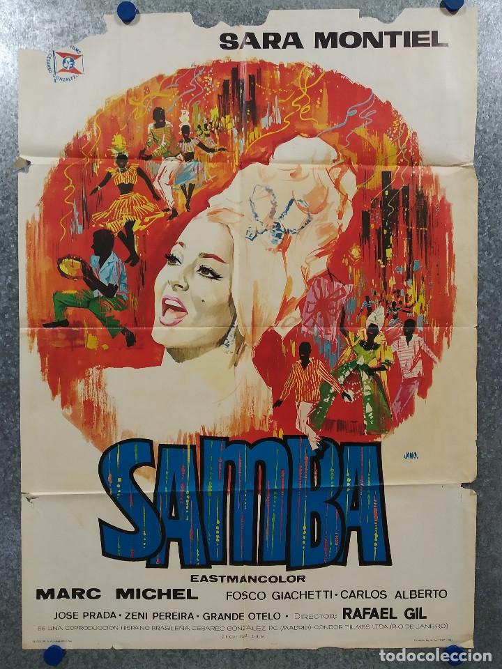 SAMBA. SARA MONTIEL. AÑO 1964. POSTER ORIGINAL (Cine - Posters y Carteles - Musicales)