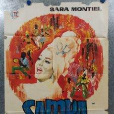 Cine: SAMBA. SARA MONTIEL. AÑO 1964. POSTER ORIGINAL. Lote 181357005