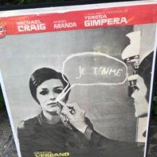 Cine: CARTEL CINE PELICULA HISTORIA DE UNA CHICA SOLA CON TERESA GIMPERA. Lote 181429738