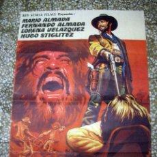 Cine: POSTER ORIGINAL DE CINE 70X100CM LOS DESALMADOS. MARIO ALMADA, FERNANDO ALMADA, LORENA VELAZQUEZ. . Lote 181504572