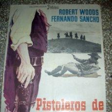 Cine: PÓSTER ORIGINAL DE 100X70CM PISTOLEROS DE ARIZONA AÑO 1974. Lote 181507992