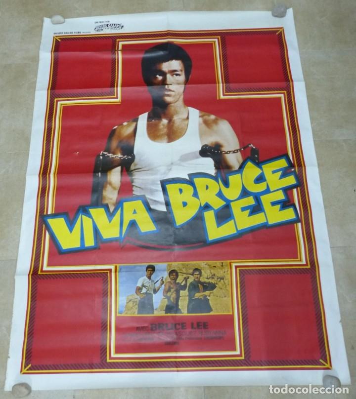 VIVA BRUCE LEE - CARTEL FRANCES GRANDE 160X120 - AÑOS 1970 (Cine - Posters y Carteles - Acción)