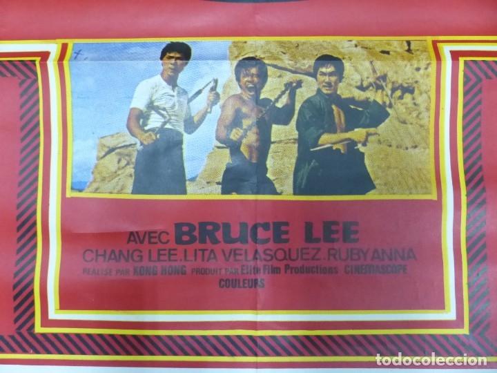 Cine: VIVA BRUCE LEE - CARTEL FRANCES GRANDE 160X120 - AÑOS 1970 - Foto 4 - 181563082