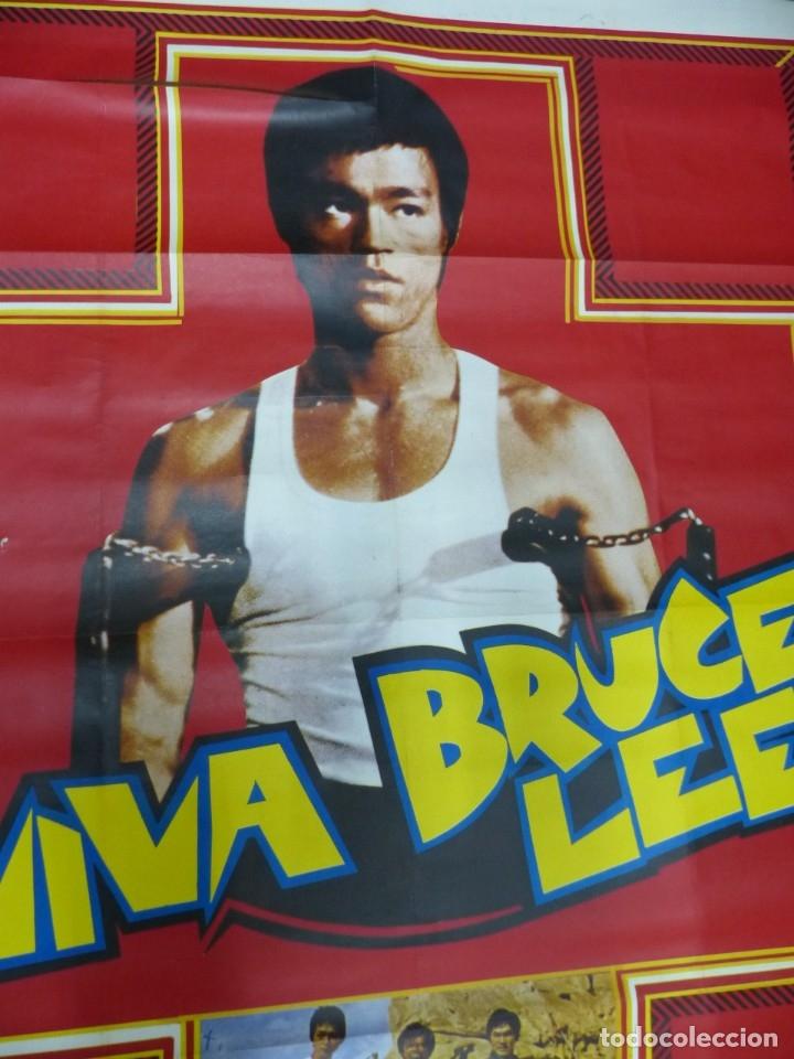 Cine: VIVA BRUCE LEE - CARTEL FRANCES GRANDE 160X120 - AÑOS 1970 - Foto 7 - 181563082