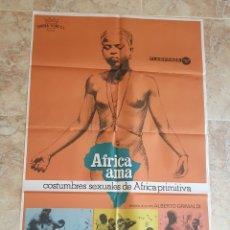 Cine: POSTER ORIGINAL AFRICA AMA - 70X100CM APROX. Lote 181718062