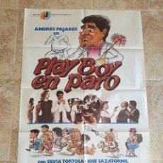 Cine: POSTER ORIGINAL PLAYBOY EN PARO - 70X100CM APROX. Lote 181720608