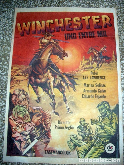 PÓSTER ORIGINAL DE 100X70CM WINCHESTER, UNO ENTRE MIL. 1978 (Cine - Posters y Carteles - Westerns)