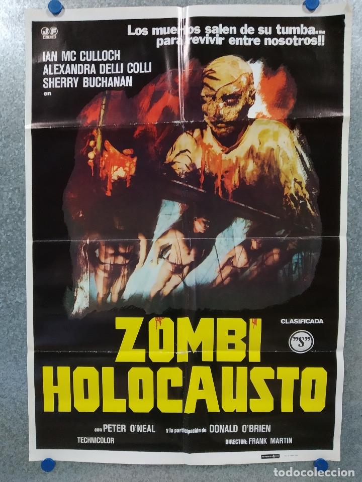ZOMBI HOLOCAUSTO. IAN MC CULLOCH, ALEXANDRA DELLI COLLI, SHERRY BUCHANAN. AÑO 1980. POSTER ORIGINAL (Cine - Posters y Carteles - Terror)